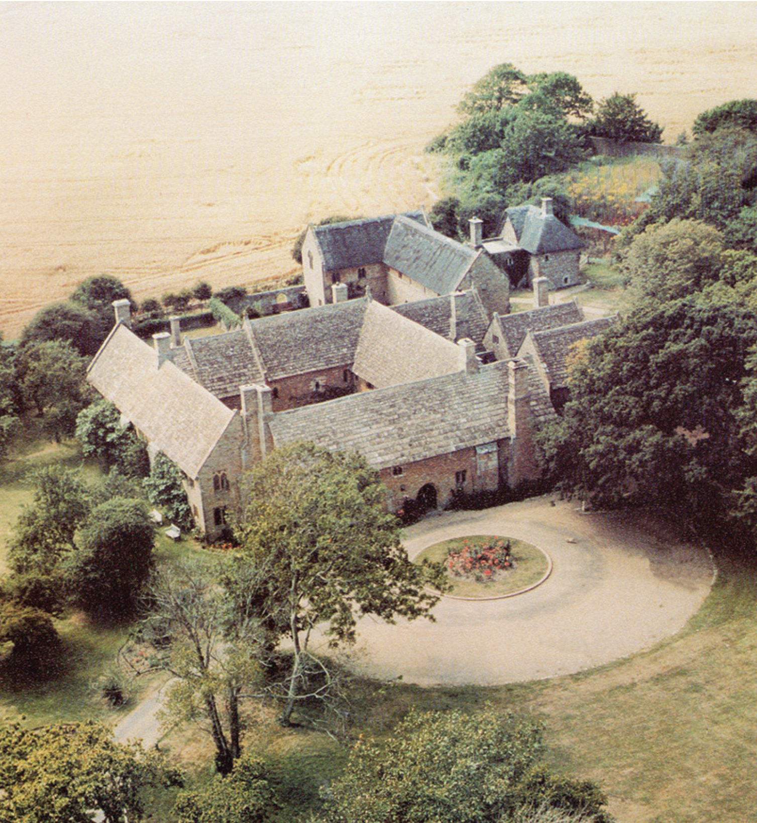 Aerial view of Bailiffscourt